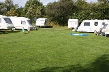 Grassed area at Margrove Park Holidays camp site
