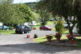 Car parking at Margrove Park Holidays camp site