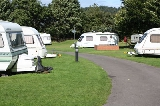 Road through Margrove Park Holidays camp site